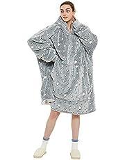Överdimensionerad tröja med huva,Original Blanket Sweatshirt,Supermjuk mysig varm, bekväm jättetröja,Lämplig tröja med huva för vuxna, män, kvinnor, tonåringar