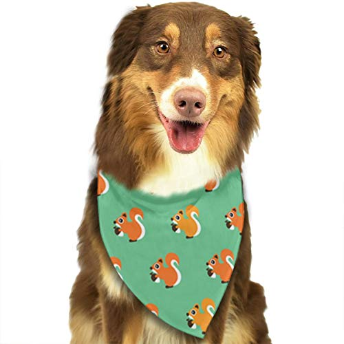 OURFASHION Squirrel Cone Green Bandana Triangle Bibs Scarfs Accessories for Pet Cats and Puppies.Size is About 27.6x11.8 Inches (70x30cm). -