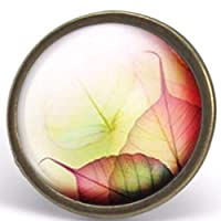 "Cabochon ring""autumn leaves"", woman christmas present - woman birthday - valentine's day - bronze (ref.61)"