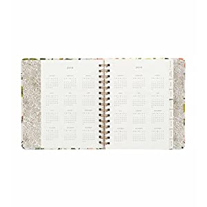 Rifle Paper Co 17 Month Large Agenda 2018 (Planner) (White, Green, Pink)