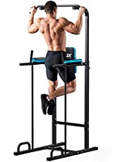 JX FITNESS Kraftturm Power Town Multifunctioneel Power Tower dip-station fitness trainingsapparaat voor optrekstang push-ups abdominale training