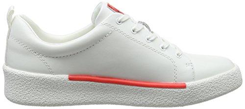 Jeans Basses Femme wht Sneakers 000 Gabri Nappa Klein Blanc Calvin CwqAxn7F5X