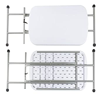 Everyday Home 75-TAB1001 Folding, Foldable Table and TV Tray, 26 x 18 x 27 for Laptops , 26 x 18 x 28 , White