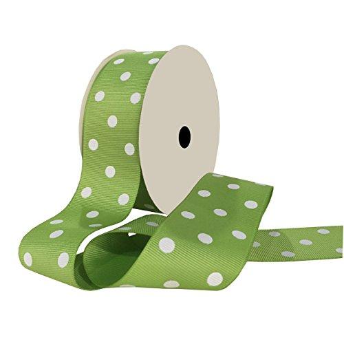 - Duoqu Green Polka Dot Grosgrain Ribbon 10 Yards 1-1/2 Inch