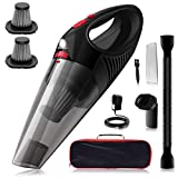 Kimitech Handheld Vacuum Cleaner,with LED Light USB Charging,Stainless Steel HEPA Cordless Handheld Vacuum Cleaner for Home/Car