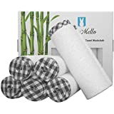 """BlueMello Premium (6-Pack) Bamboo Ultra Soft Organic Towel 10""""x10"""" Washcloths for Baby 