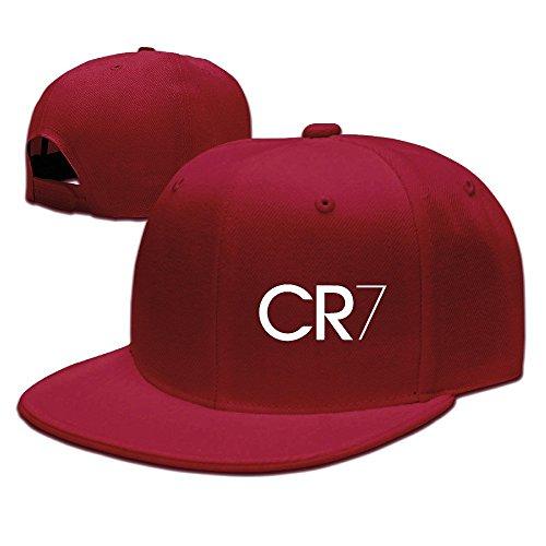 Runy Custom CR7 Logo Adjustable Baseball Hat & Cap Red