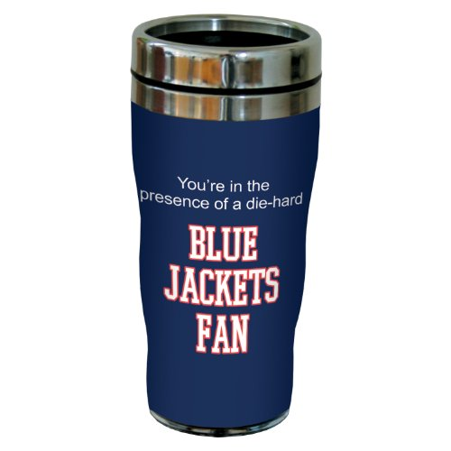 Tree-Free Greetings sg24176 Blue Jackets Hockey Fan Sip 'N Go Stainless Steel Lined Travel Tumbler, 16-Ounce ()