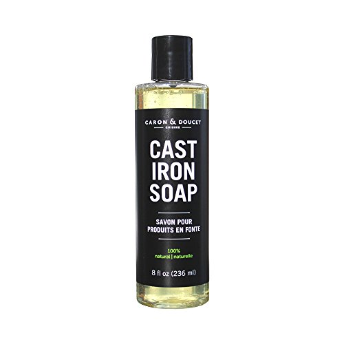 Caron & Doucet - Cast Iron Soap - 100% Plant Based Castile & Coconut Soap; No Detergents, No Surfactants, No Artificial Fragrance, No Synthetic Foaming Agents. Specially Formulated for Cast Iron. Cast Iron Skillet Soap