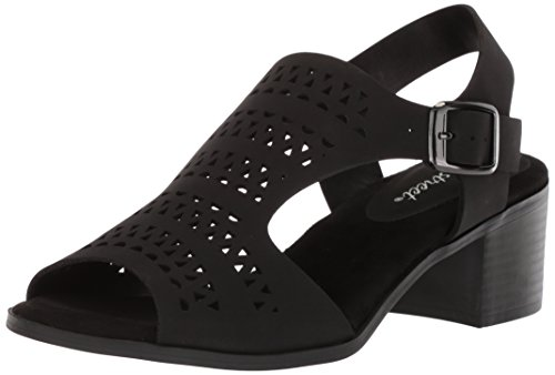 Sandal Clarity Black Women's Street Easy Heeled qwzSI