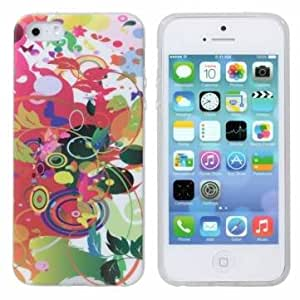[Envio GRATIS] colorido patrón TPU defensor suave cubierta caso de iPhone5 5S // Colorful Pattern TPU Defender Soft Cover Case For iPhone5 5S