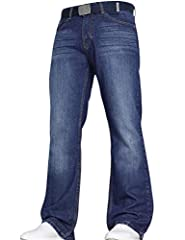 "New Mens VON DENIM Bootcut Fit Heady Duty Jeans By JeanBase Amazing Wash effect Throughout The Jean Zip Fly Fastening There Are Two Front Pockets And Two Back Pockets Great Comfortable Fabric Waist Sizes: 28"" - 44"""
