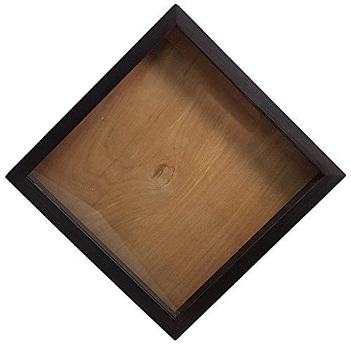 Wooden Shadow Box Graduation Cap Holder 12x12 - Blank No Saying - Ebony