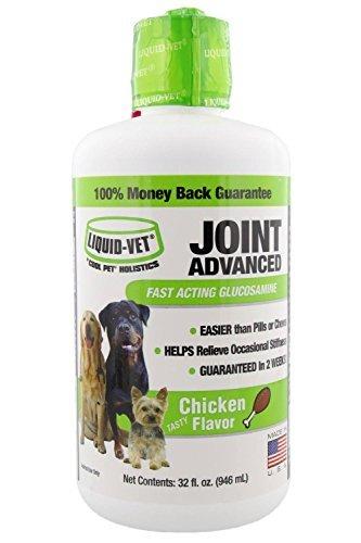 Liquid-Vet Dog Joint Advanced Formula - Fast Acting Glucosamine, Chicken Flavor 32oz