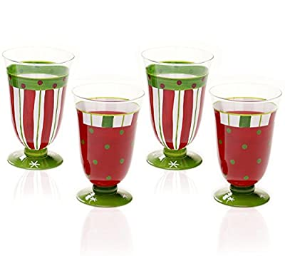 Certified International Drinkware, Set of 4 Christmas Presents Assorted Glasses