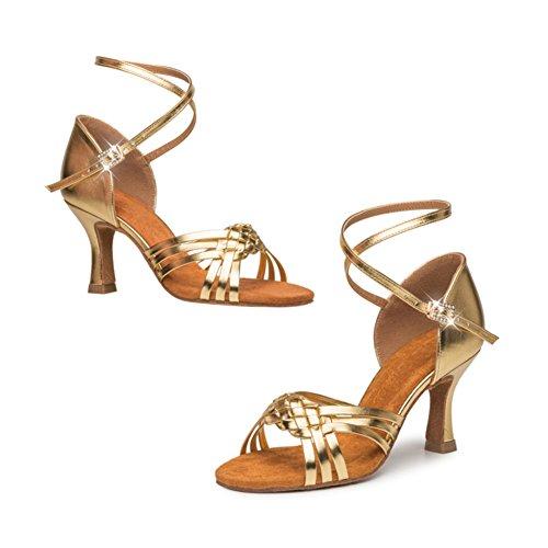 Ballroom Shoes GUOSHIJITUAN Latin Dance Ladies Ballroom Soft Heel B Bottom Shoes Women's Dancing Dance Shoes High Shoes 410qtBw0