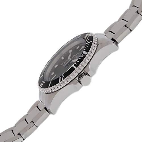 Dugena herr kvarts armbandsur dykare XL med rostfritt stål band svart/silverfärger 4461002