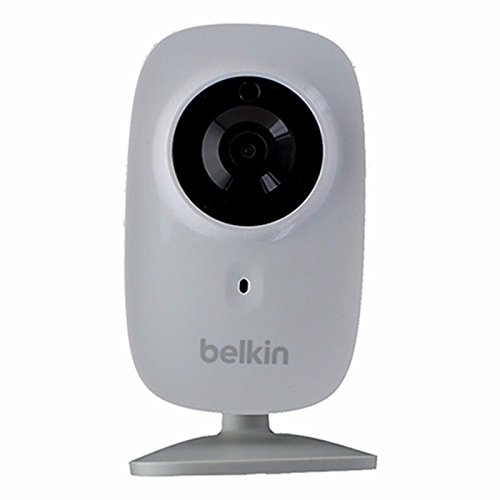 Belkin NetCam HD+ Wi-Fi enabled Camera works with WeMo, includes Night Vision, All Glass Wide Angle Lens, and Infrared Cut-off - Discounter Lens