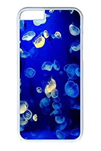 iPhone 6 Case, Personalized Unique Design Covers for iPhone 6 PC White Case - Jellyfish01 by Maris's Diary