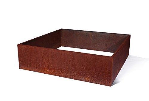 Veradek Metallic Series Corten Steel Raised Garden Bed, 13-Inch Height by 48-Inch Width by 48-Inch Length, Rust (GBVSQCS) by Veradek