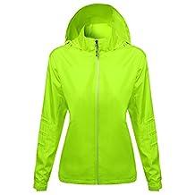 Xpril Women's Active Zip Up Detachable Hooded Windbreaker