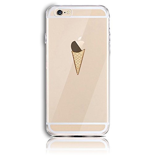 Transparente TPU Funda para iPhone 6 4.7 Silicona Gel Sunroyal® Resistente a los Arañazos en su Parte Trasera Flexible Bumper Case Cover [Anti-Gota] [Choque Absorción] Ultra Fina Protectora Alta Cali A-20