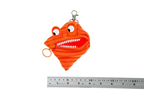 ZIPIT Monster Mini Pouch Coin Purse, Orange Photo #2