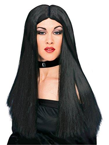 Rubie's Adult Costume Wig, Black, 24-Inch -