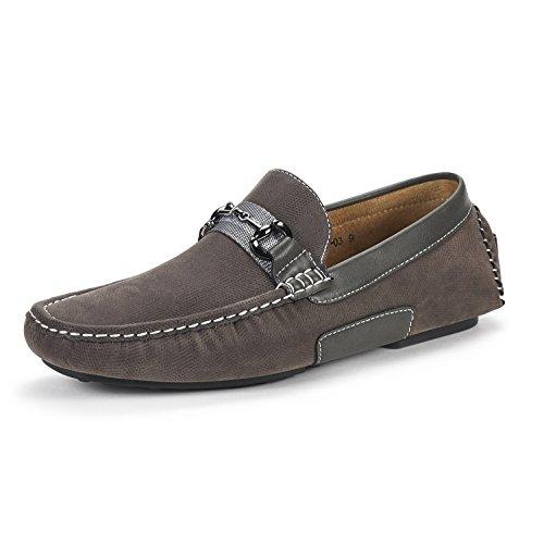 Grey Shoes Bruno Marc Loafers Penny Santoni Mens Moccasins 03 gORzw8q