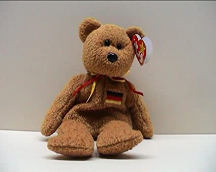 d3b13157b36 Image Unavailable. Image not available for. Color  TY Beanie Baby -  GERMANIA the Bear (German Exclusive)1st Version ...