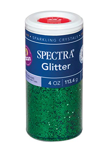 (Pacon Spectra Glitter Sparkling Crystals, Green, 4-Ounce Jar (91660))