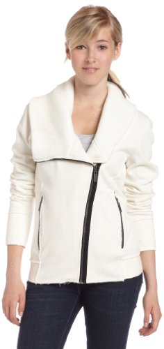 Roxy Juniors Hit The Road Fleece Jacket,Vanilla,Large