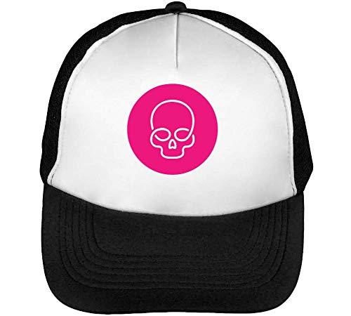 Negro Blanco Skull Snapback Beisbol Gorras Hombre cFwWTqW6O