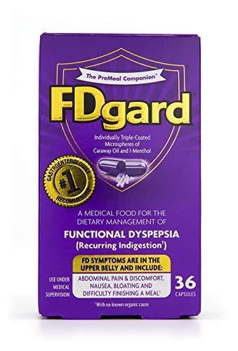Fdgard Individually Triple-Coated Microspheres of Caraway Oil and L-Menthol Capsules, 36 Count