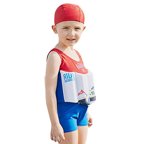 - Boys Float Suit Floating Swimsuit Kids One Piece Sleeveless Buoyancy Swimwear