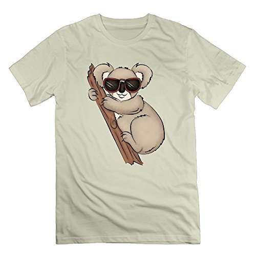 Qiop Nee Cool Koala With Glasses T Shirt Short Sleeve Cotton Crew Neck Tee Crew Neck For - Limited Edition Avengers Glasses 3d