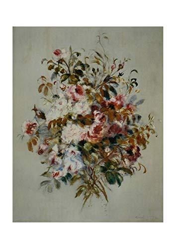 Roses Pierre Renoir Auguste - Spiffing Prints Pierre Auguste Renoir - Bouquet de Roses - Medium - Semi Gloss - Unframed