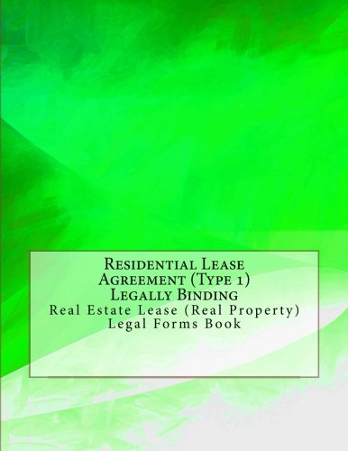 Buy Residential Lease Agreement Type 1 Legally Binding Real