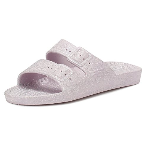 Moses Womens Glitter Parma Pink Freedom Sandals YvRKInhtHq