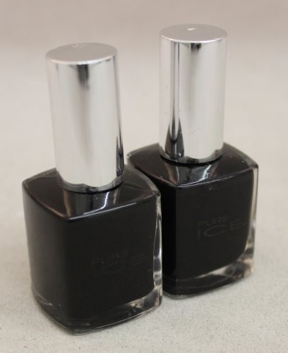 2 New Bari Pure Ice Fingernail Polish Black Rage 980-cp by BARI