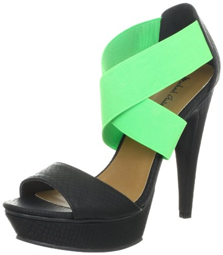 Michael Antonio Women's Tamms-Rep Platform Sandal,Black,7.5 M US