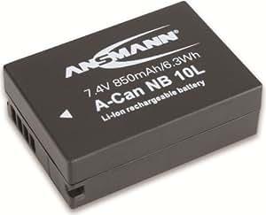 Ansmann 1400-0024 - A-Can NB10L Li-Ion, batería 3,7V/850mAh para cámara digital de fotos Canon