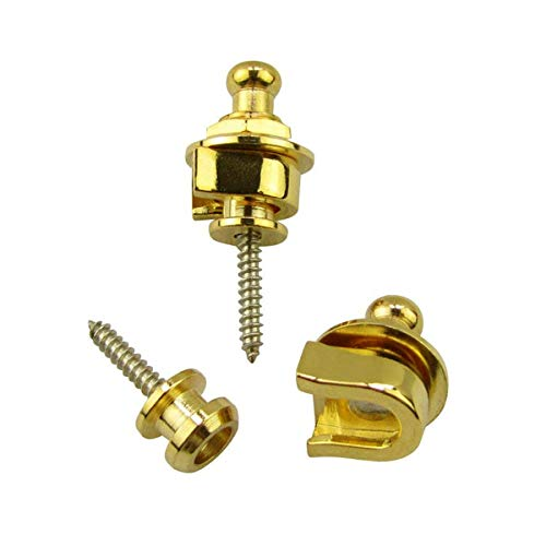 Buy dunlop gold strap lock for guitar strap