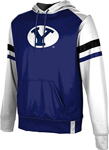 Brigham Young University Boys' Pullover Hoodie, School Spirit Sweatshirt (Old School) FF22 - Brigham Fabric University Young