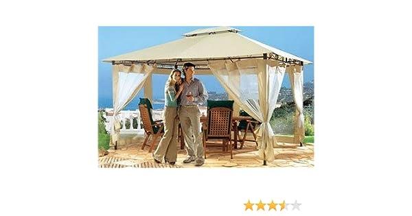 baumarkt direkt - Juego de 4 paneles laterales para pérgola (con red antimosquitos, para pérgola de 3 x 3 m) Con techo.: Amazon.es: Jardín