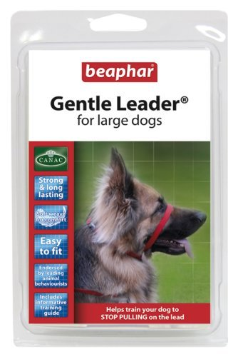 BEAPHAR GENTLE LEADER FOR LARGE DOGS, L, RED COLOUR LEAD by Beaphar by Beaphar