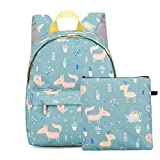 Kid's Lightweight Backpack Animal Kindergarten Bookbag Lovely Child School Bag Handbag for Boys Girls Kid Bookbag Baby Canvas Daypack Cartoon Coin Purse 2 pcs Green