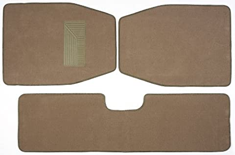 Luxury Driver 44037 SUV Beige Carpet Floor Mat Set - 3 Piece - Country Van Carpet