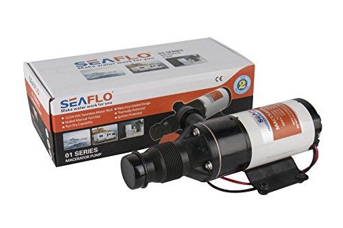 12v Macerator Sanitation Water Pump 45 LPM 12 GPM RV Marine Boat Waste DC Toilet (Best Macerator Pump For Boat)