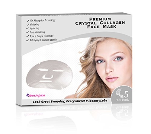 iBeautyLabs Collagen Face Mask (5PK) (Crystal Face Mask) -